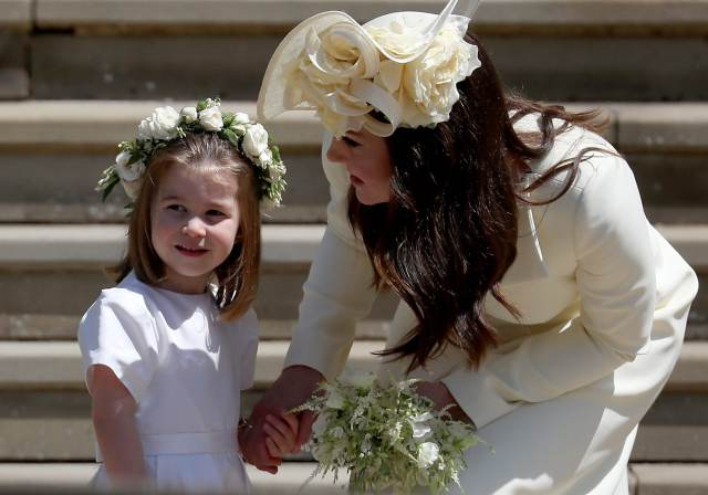 Charlotte di Cambridge con Kate Middleton