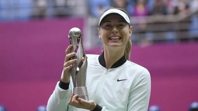 Maria's first win after the doping ban in China