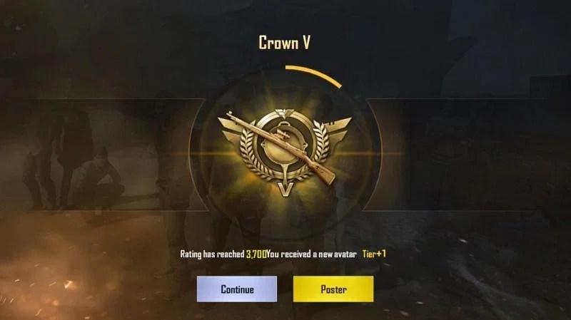PUBG Ranks: Crown Rank