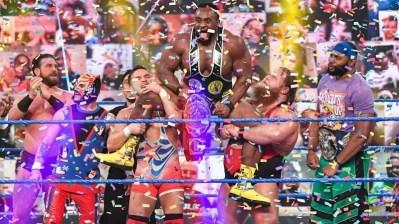 Big E Intercontinental Championship confetti cannon celebration!
