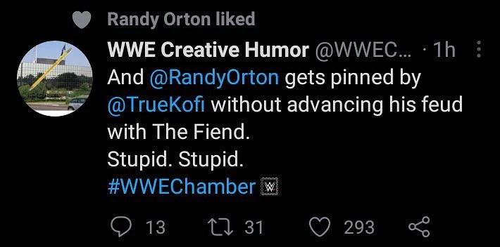 Randy Orton likes tweet slamming WWE for his current booking