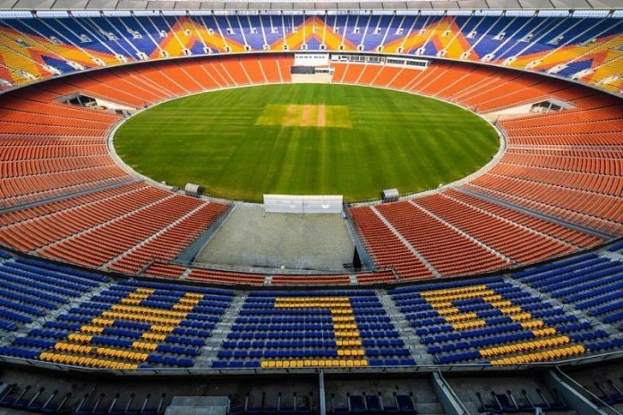 The Motera Stadium in Ahmedabad