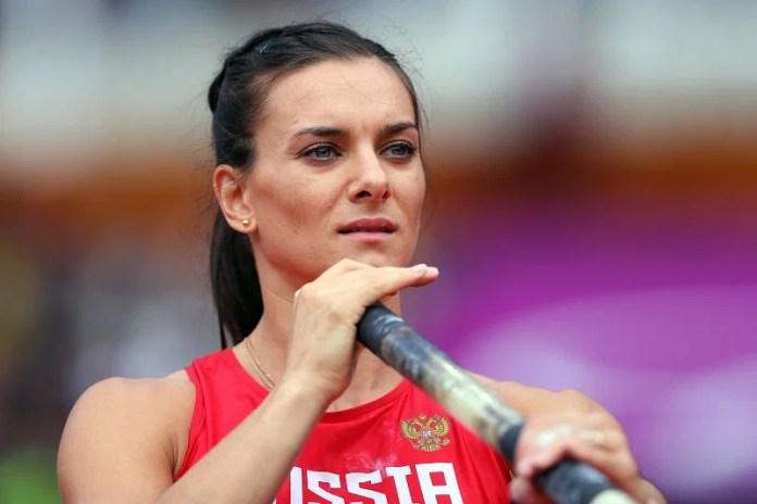 Yelena Isinbaeva at the London 2012 Olympic Games