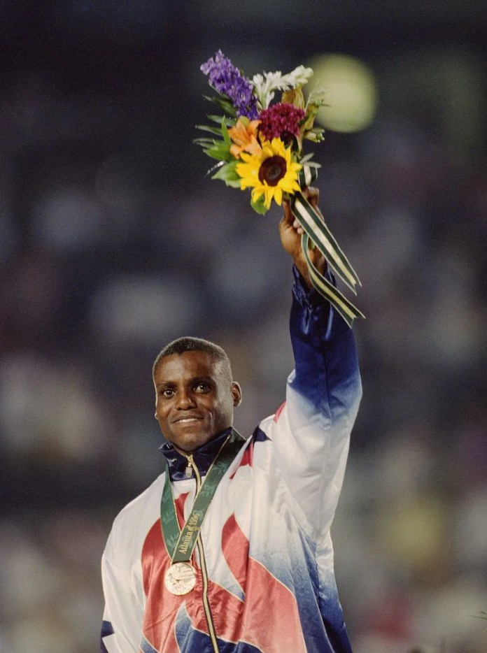 Carl Lewis won the gold medal in men
