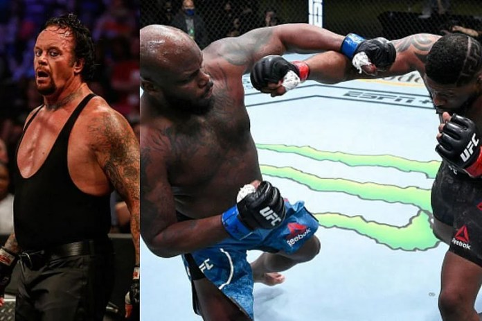 The Undertaker (left) and Derrick Lewis (right)