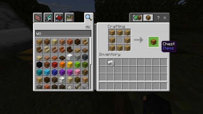 Crafting a Chest