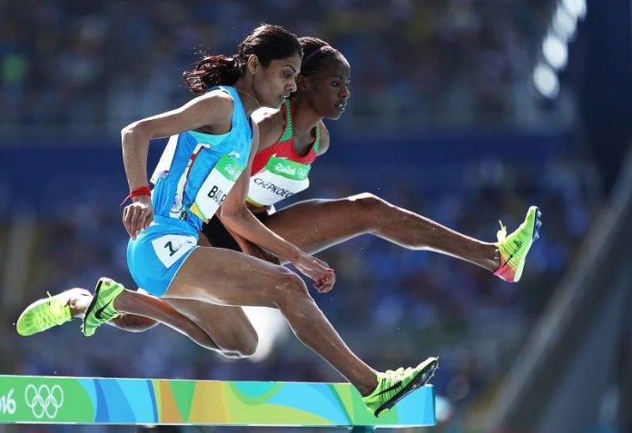 Lalita Babbar in action during Rio Olympics