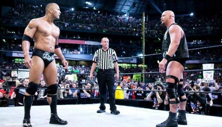 स्टीव ऑस्टिन vs द रॉक