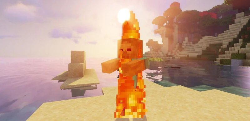 Shown: A Zombie being cleansed by the rays of the Sun (Image via Minecraft)