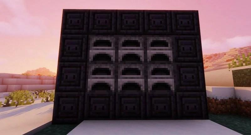 Shown: Furnaces surrounded by Chiseled Polished Blackstone (Image via Minecraft)