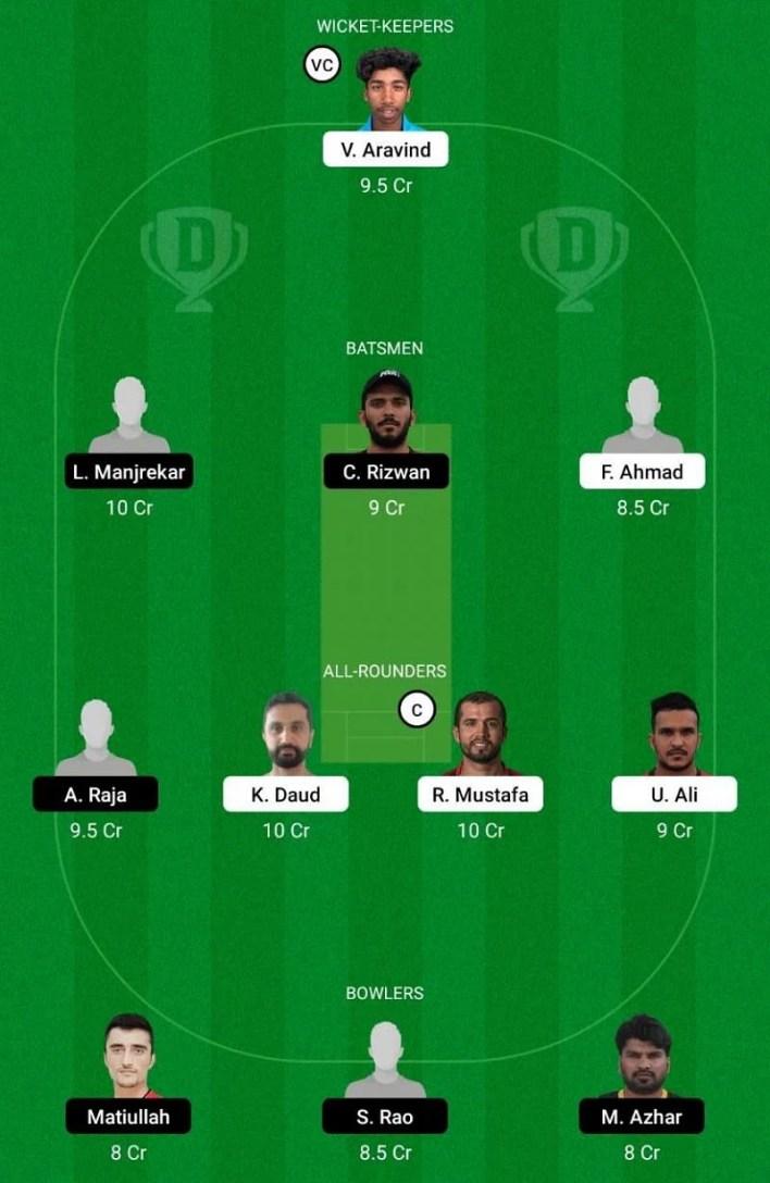 SHA vs EMB Dream11 Team - Emirates D10 League