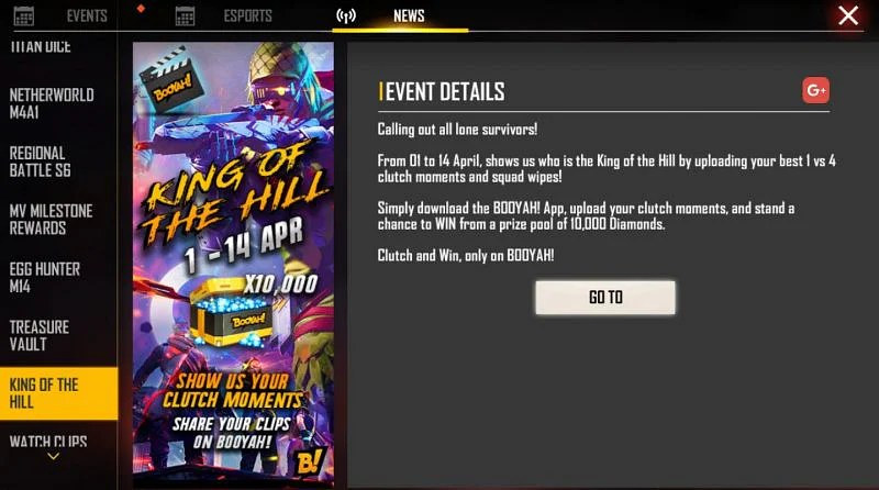 King of the Hill event