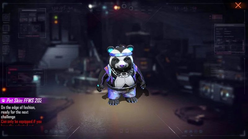 Pet skin: FFWS 2021 Panda is one of the items that users can obtain for free