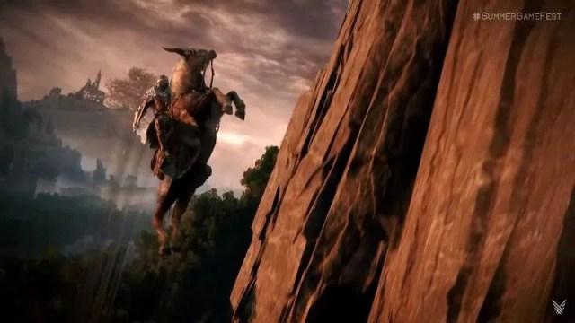 Vertical traverse using jump portal (Image via FromSoftware)