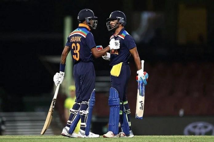 Hardik Pandya and Shikhar Dhawan