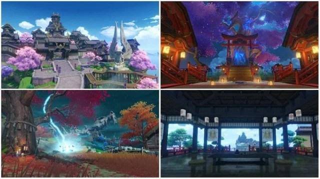 Inazuma locations revealed