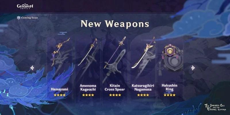 New Craftable Weapon in Genshin Impact 2.0 (Image via Mihoyo)