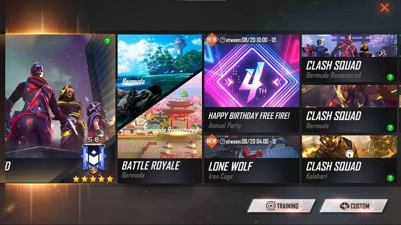 Select Happy Birthday Free Fire - Annual Party (Image via Free Fire)