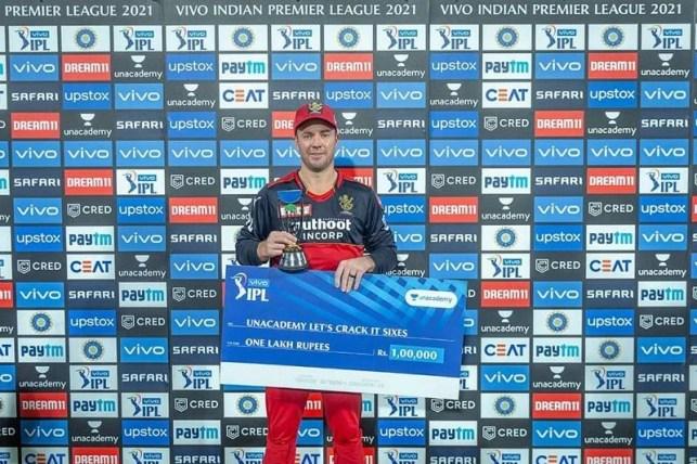 AB de Villiers has won many awards in his career (Photo courtesy: IPLT20.com)