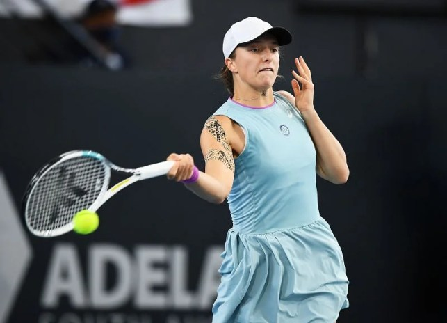 Ega Sweetik will be seen using her forehand to control the meetings.