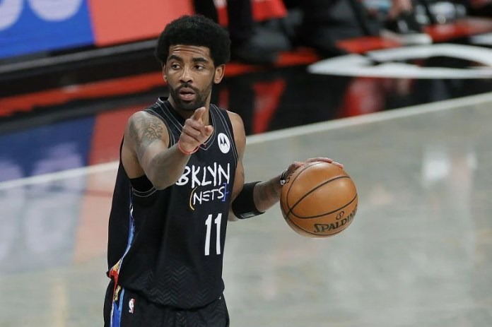 Kyrie Irving with the Brooklyn Nets