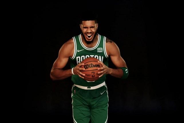 Jason Tatum at Boston Celtics Media Day.