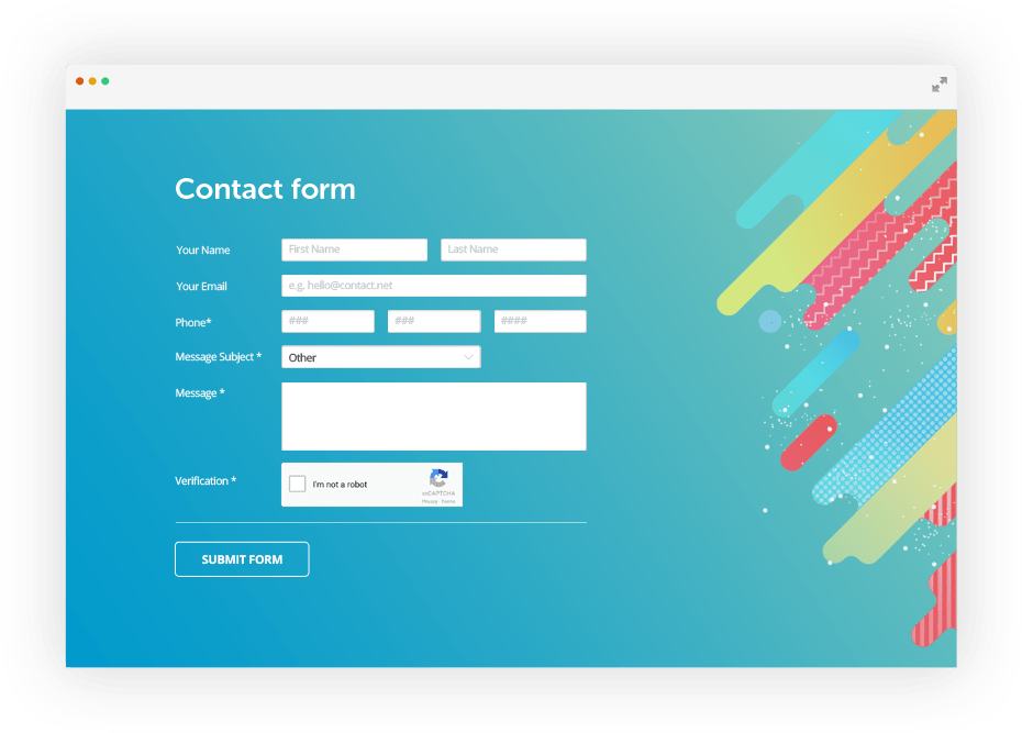 You can see an example of the inlined. Email Form Builder Create Forms With Html Email Templates