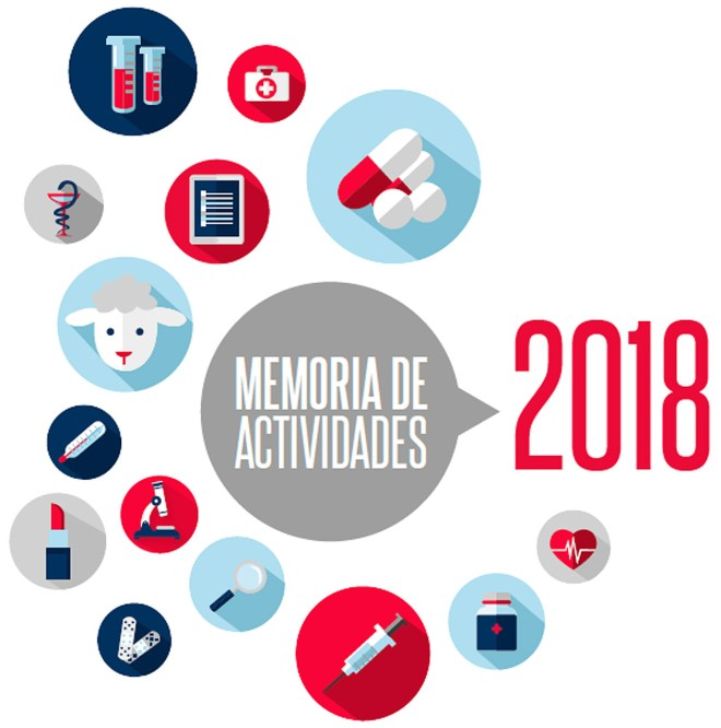 Portada de la Memoria de Actividades 2018 de la Aemps.