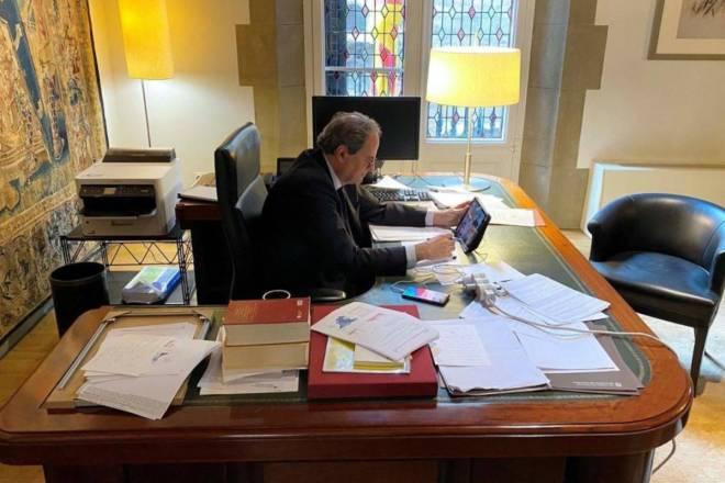 El presidente Quim Torra, en su despacho