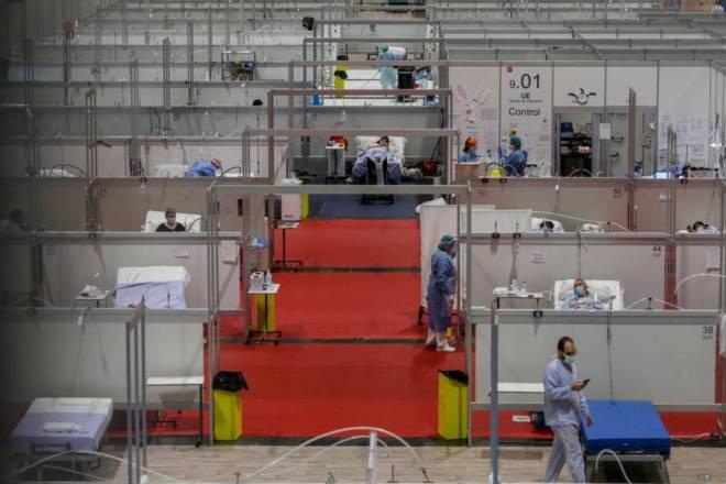 Hospital de campaña en Ifema, Madrid.