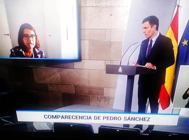 Intervención de Soledad Valle, de DM, durante el turno de preguntas a Pedro Sánchez.