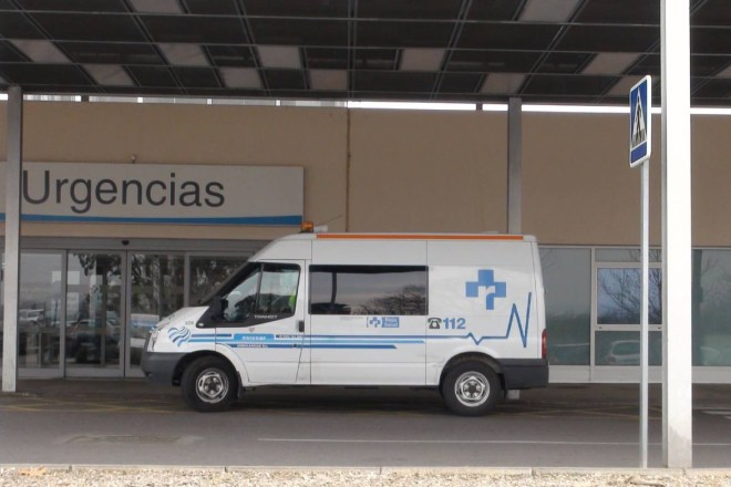 Acceso al Servicio de Urgencias del Hospital San Pedro, de Logroño.