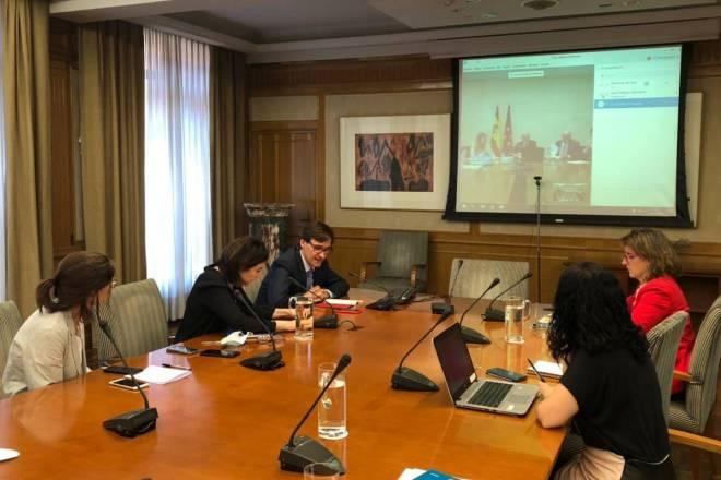 Reunión de Sanidad con los responsables de la Comunidad de Madrid para la desescalada.