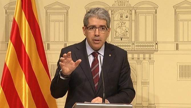 El portaveu Homs valorant la sentència del TC que anul·la el decret del 9-N.