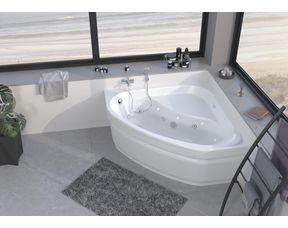 baignoire balneo d angle belinda premium avec tablier