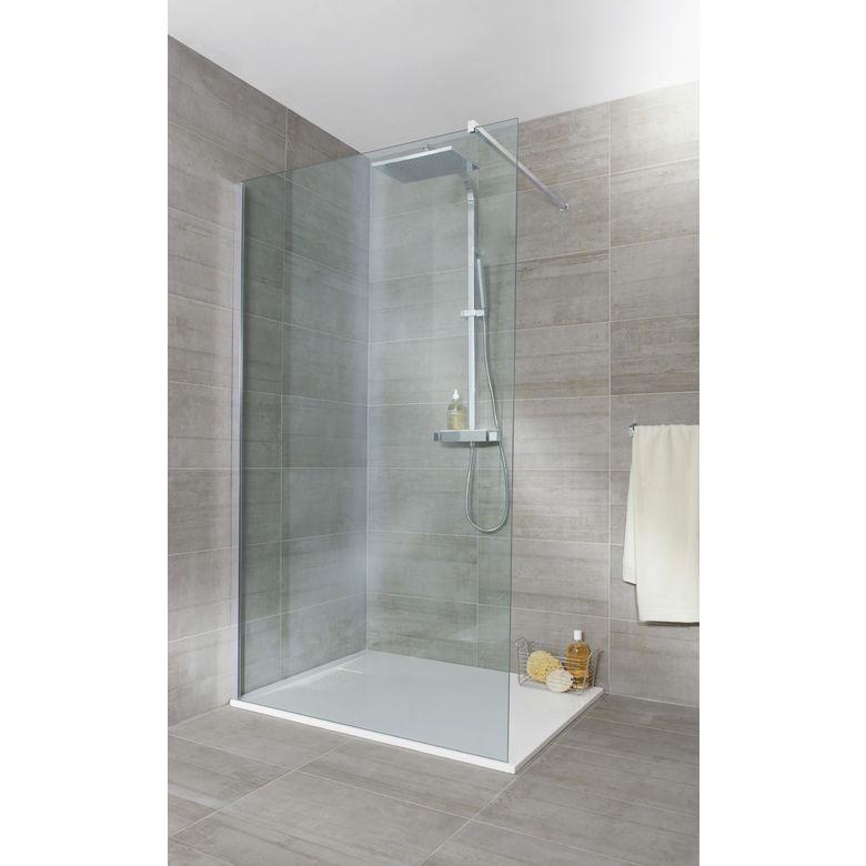 Inspiration d co une salle de bain en nuances de gris - Porte de douche vitree ...
