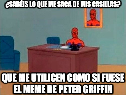 Spiderman haciendo el trabajo de Peter Griffin