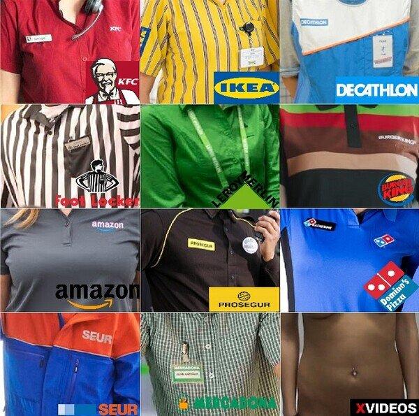 Uniformes de famosas empresas que seguro que conocerás...