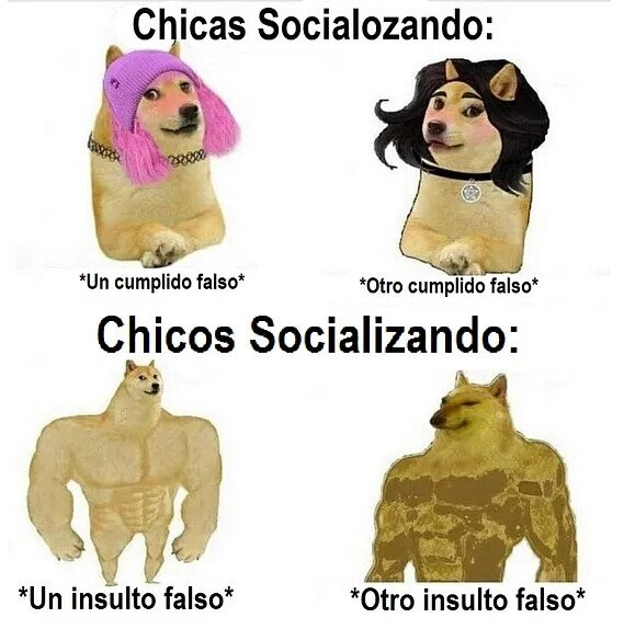 Diferencias al socializar