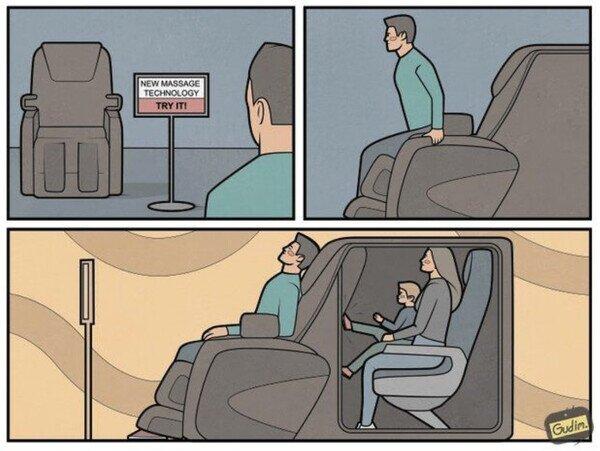 Nuevo masaje versión viaje en avión