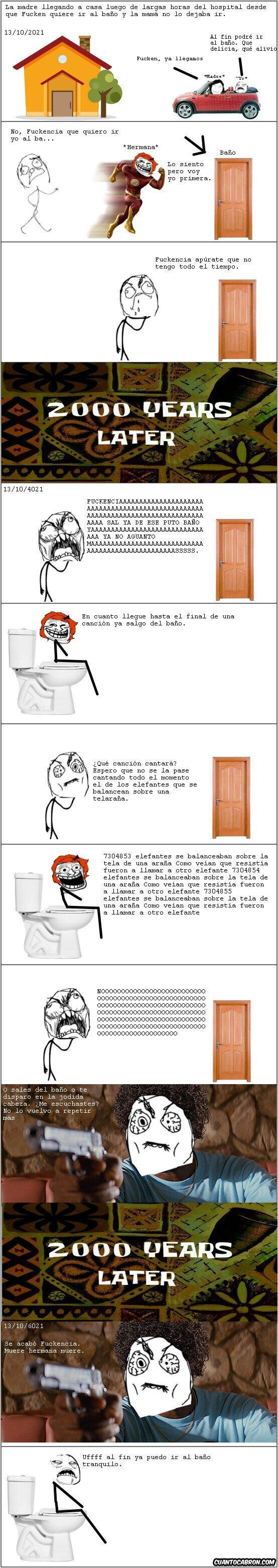 ¿Tanta eternidad para un solo baño?
