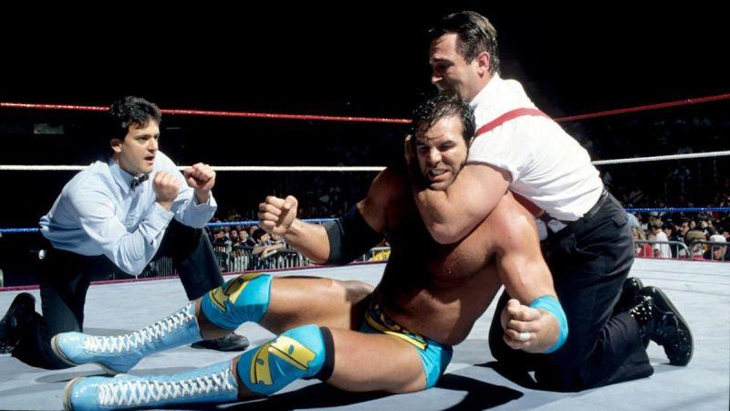 Razor Ramon battled IRS at a Royal Rumble