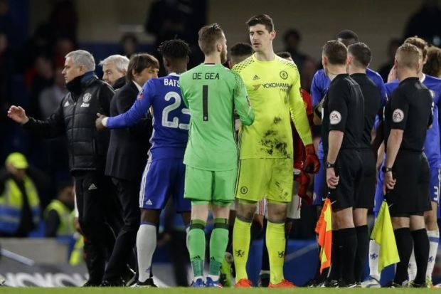 Mutual respect: Two of the world's best goalkeepers