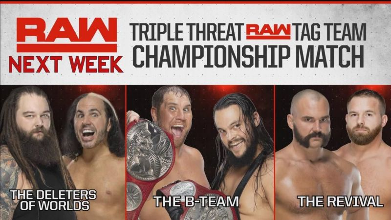Which team will walk away as the Raw Tag Team Champions?