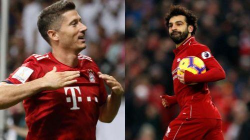 Robert Lewandowski (left) and Mohamed Salah (right)