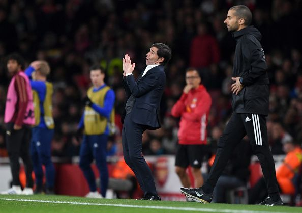 Marcelino watches on as his side, who were threatening in flashes, ultimately failed