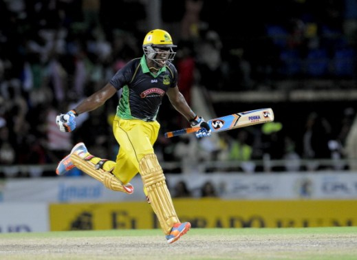 Image result for jamaica tallawahs gayle and russell celebrate