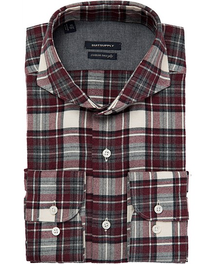 BORDEAUX_SHIRT_Single_Cuff_H4535