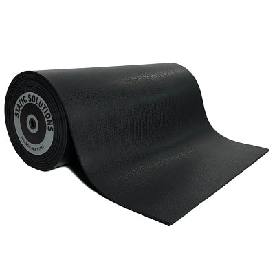 ESD mat mats and rolls in black