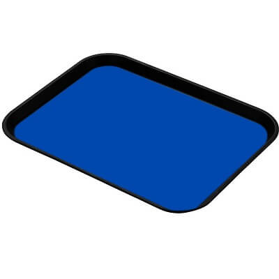 "A blue esd tray liner specifically cut for standard trays at 16"" x 24"""